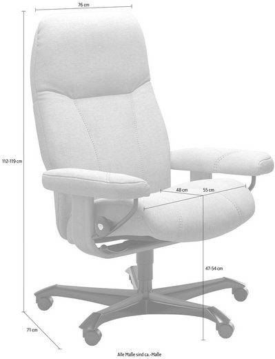 Stressless® Relaxsessel »Consul«, mit Home Office Base, Größe M, Gestell Whitewash