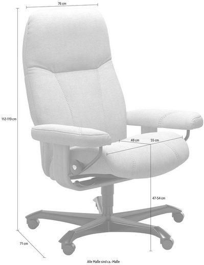 Stressless® Relaxsessel »Consul«, mit Home Office Base, Größe M, Gestell Whitewash
