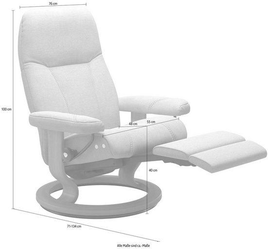 Stressless® Relaxsessel »Consul«, mit Classic Base und LegComfort™, Größe M, Gestell Whitewash