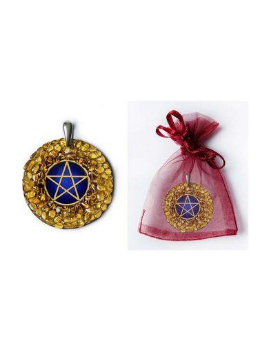 Adelia´s Amulett »925 Silber Bernstein Talisman«, Pentagramm - Schutz und spirituelles Wachstum