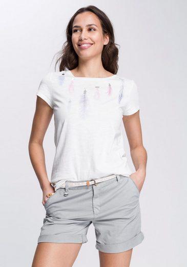 Esprit Kurzarmshirt mit glänzendem Print
