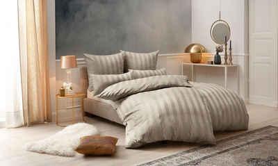 Bettwäsche »Malia«, Leonique, mit eleganten Streifen