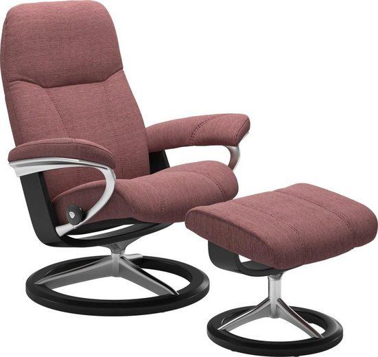 Stressless® Relaxsessel »Consul« (Set), mit Hocker, mit Signature Base, Größe M, Gestell Schwarz