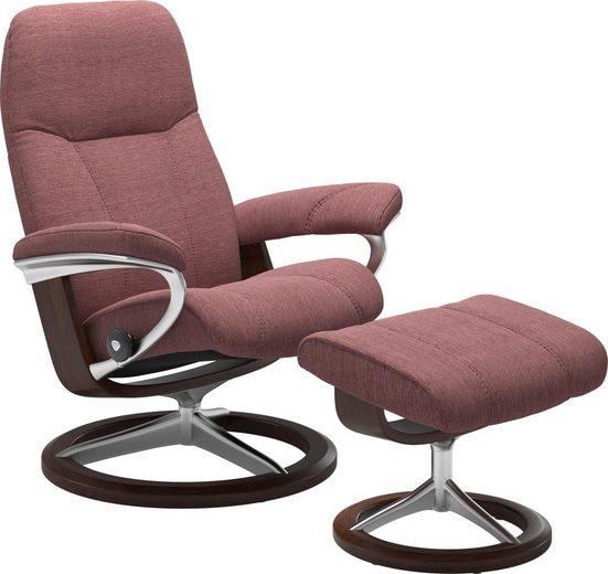 Stressless® Relaxsessel »Consul« (Set), mit Hocker, mit Signature Base, Größe M, Gestell Braun