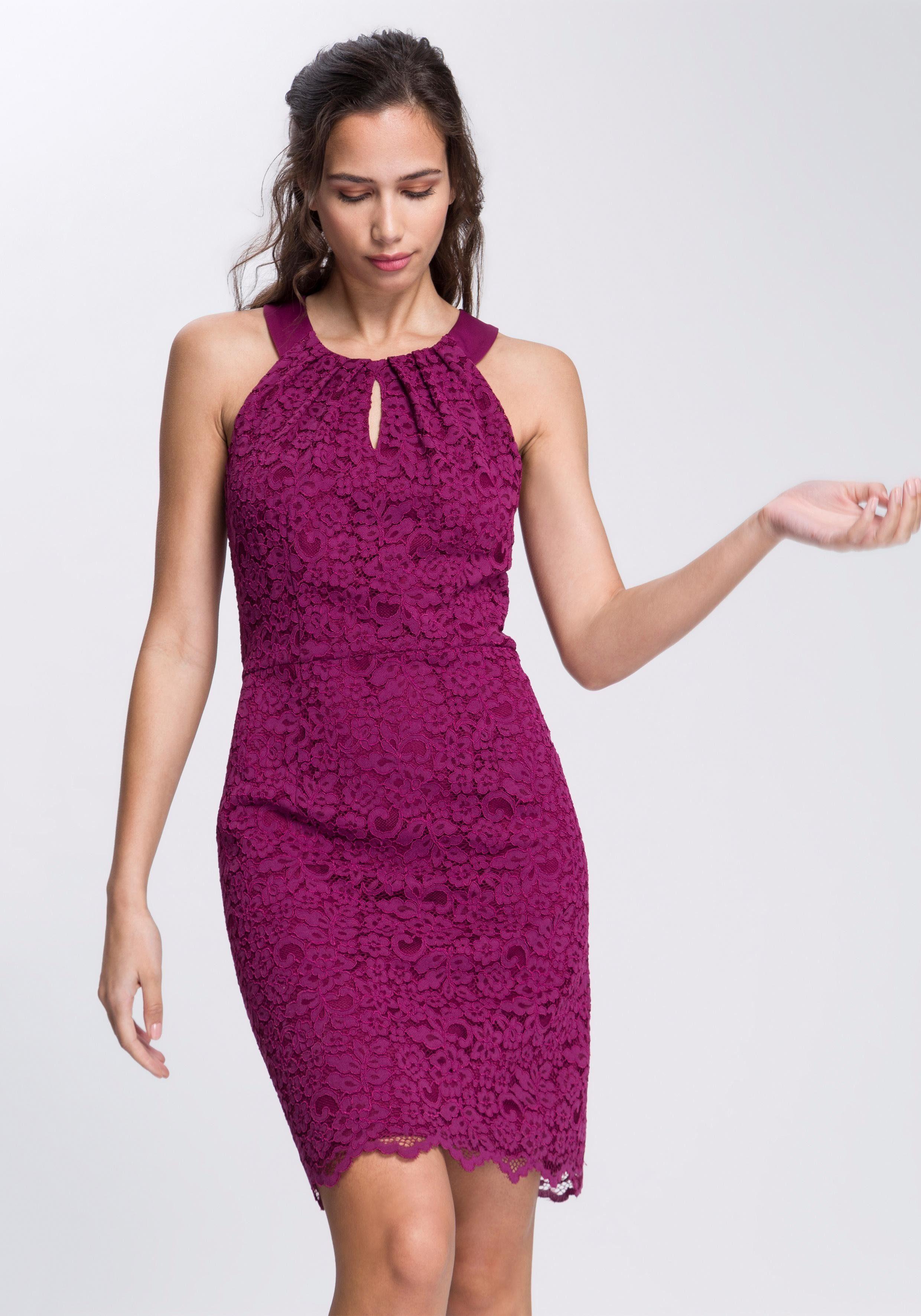Esprit Collection Abendkleid in floraler Spitzen-Optik