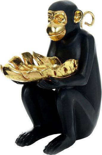 Kayoom Skulptur »Sitting Monkey 400« Gold / Schwarz