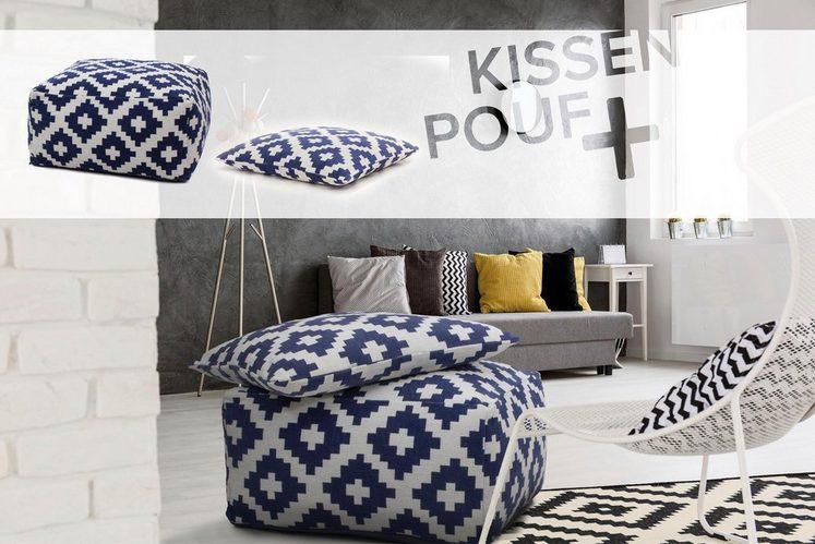 Kayoom Pouf & Kissen »Unwind 260« (2-tlg. Set)