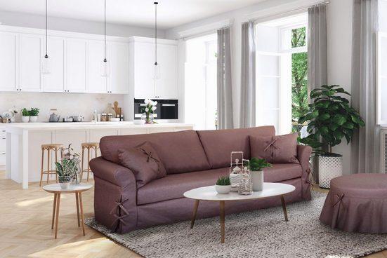 Home affaire 3-Sitzer »Liesel«, Hussenoptik mit Schleife