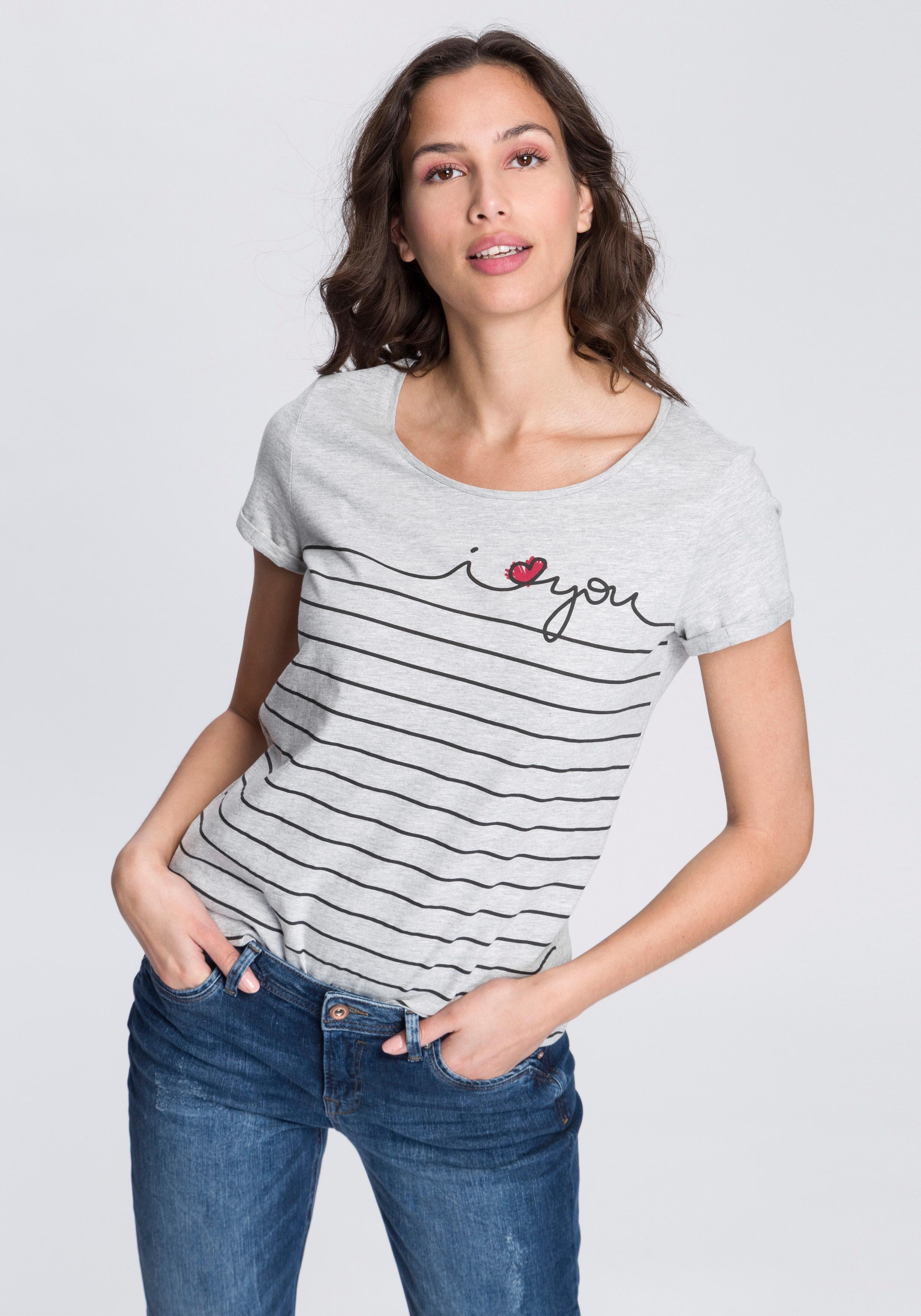 edc by Esprit Print-Shirt mit auffälligem Print