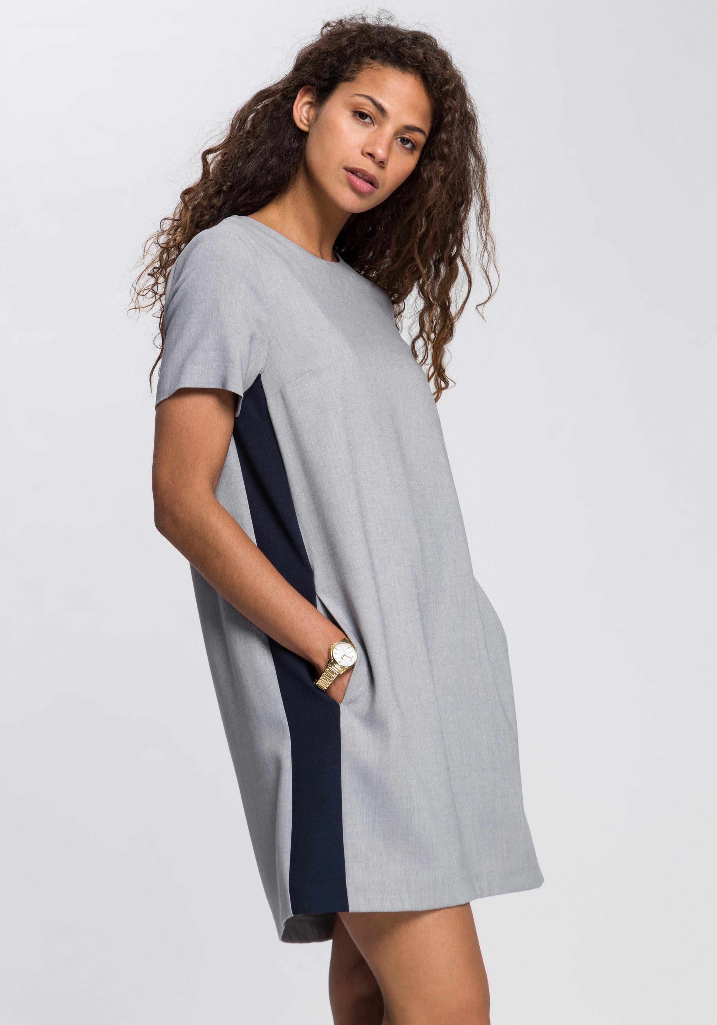 TOMMY HILFIGER Blusenkleid »Anita« mit trendy Galonstreifen an der Seite