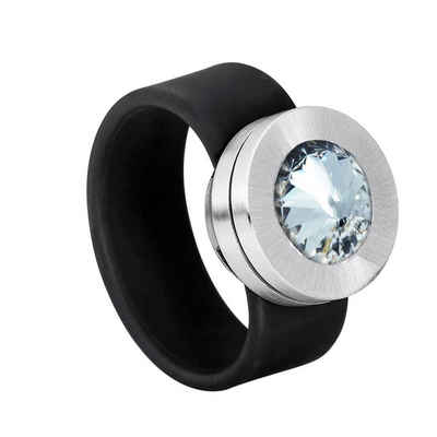 Heideman Perlenring »Colori« (1-tlg), mit Kristall Austauschbar