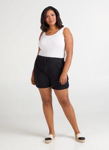 Zizzi Shorts Damen Sommer Hose Loose Fit Kurze Sommerhose Große Größen