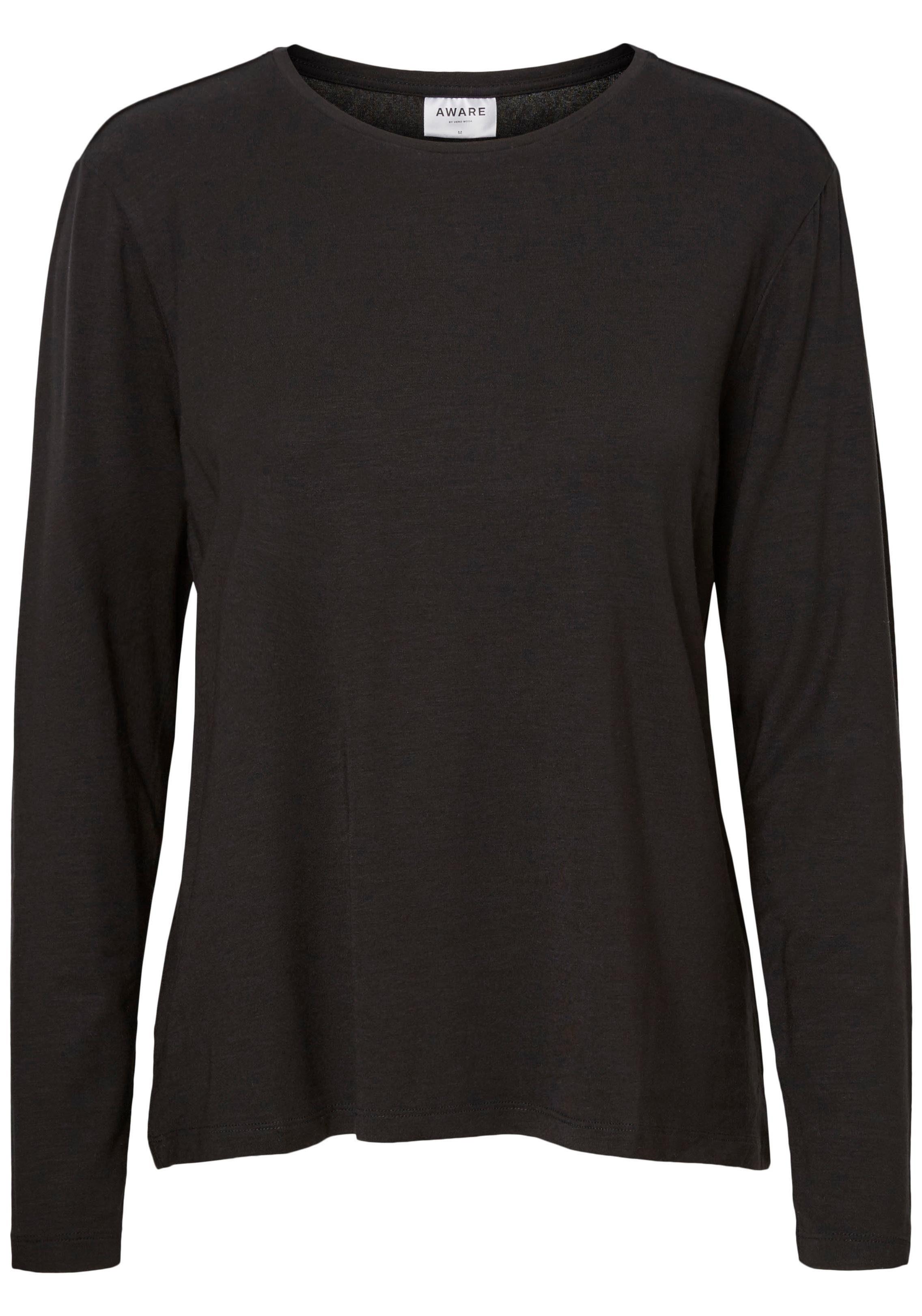 Vero Moda Damen Langarmshirt mit Spitze Damenshirt Langarm Shirt Damenoberteil