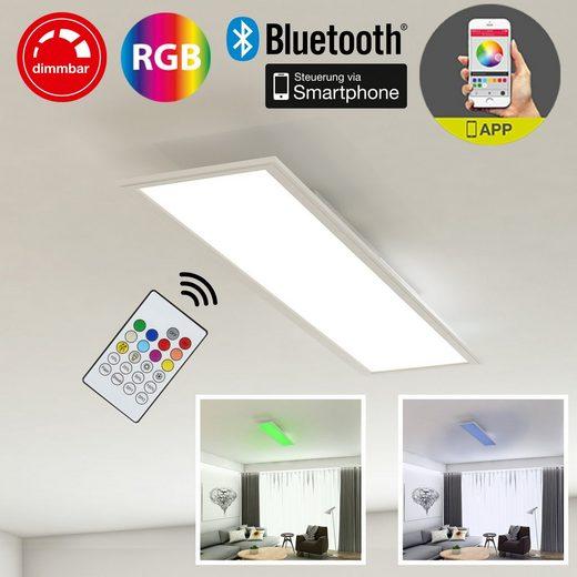 Briloner Leuchten LED Panel »Xenia«, 1-flammig, Deckenleuchte mit APP-Steuerung, inkl. Bluetooth