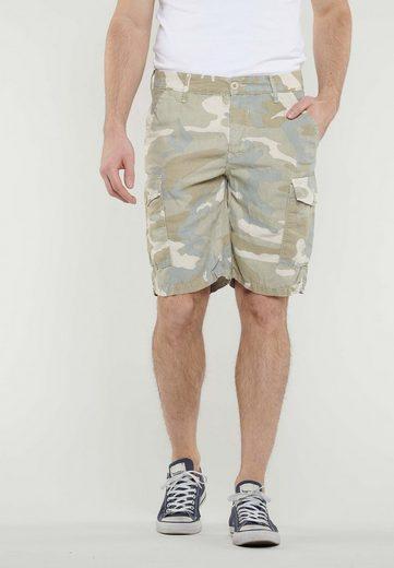 Le Temps Des Cerises Shorts mit Military-Muster