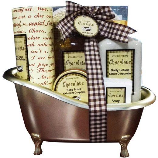GLOSS! Geschenk-Set »mit Duschgel, Bodylotion, Peeling, Badekristallen, Seife, Sisal-Handschuh«, 6-tlg.