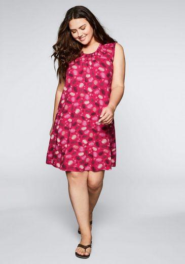 Sheego Jerseykleid mit sommerlichem Alloverdruck