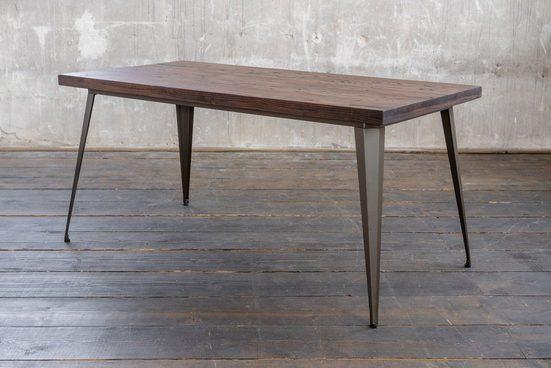 KAWOLA Esszimmertisch Holz/Metall versch. Größen »KELIO«