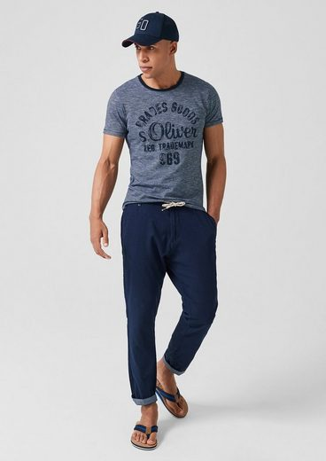 s.Oliver Jerseyshirt im Vintage-Look