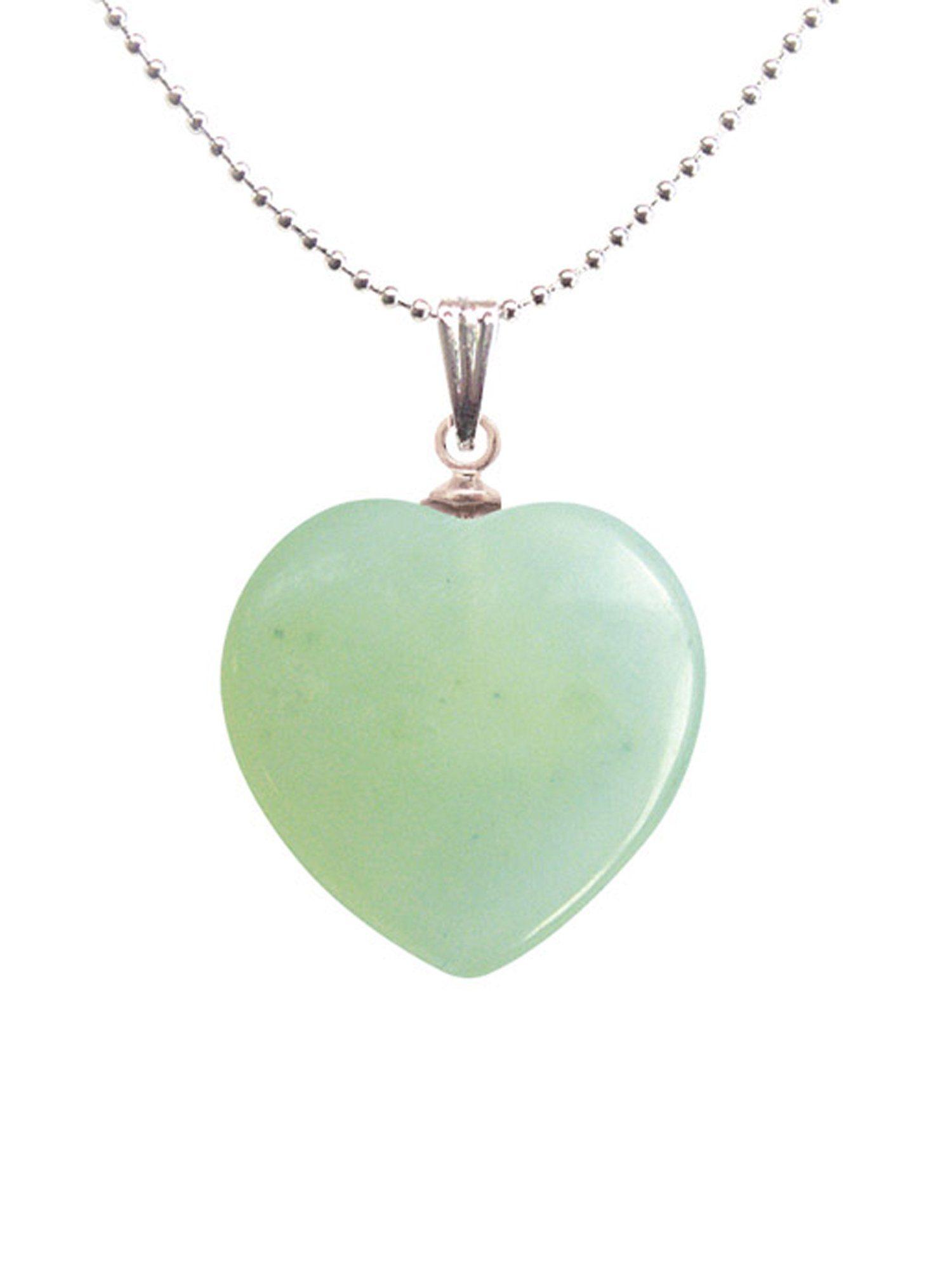 Adelia´s Amulett »Herz Steinanhänger« Neue Jade Herzanhänger - Kontrolle über das Leben