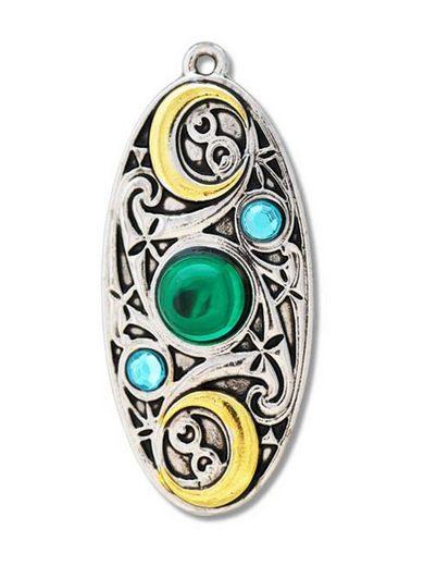 Adelia´s Amulett »Mythische Kelten Talisman«, Mond Schild - Für Klarheit und Besinnung