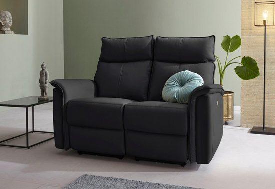 Places of Style 2-Sitzer »Zola«, mit hohen Sitzkomfort durch elektrische Relaxfunktion, USB-Anschluss, 142 cm