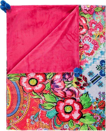 Plaid »Zaira«, Happiness, mit Mandalas und Blüten