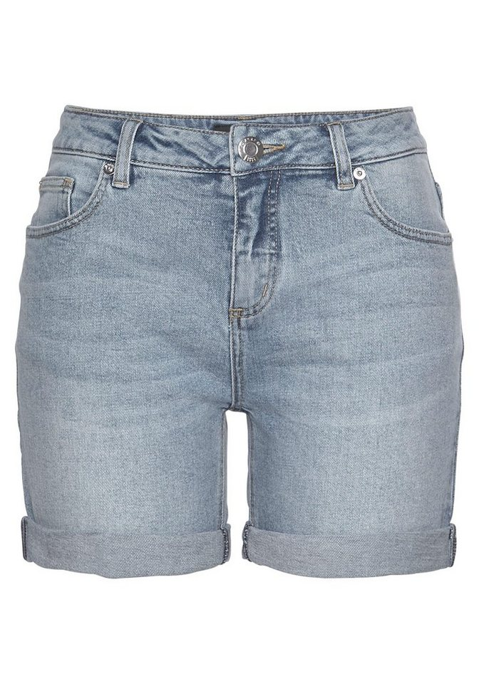 OPUS Hotpants »Manni« mit modischem Krempel | Bekleidung > Hosen > Hotpants | Blau | OPUS