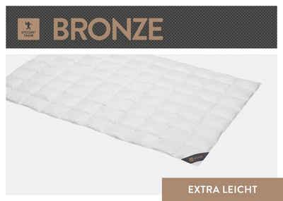 Daunenbettdecke, »Bronze«, SPESSARTTRAUM, Füllung: 90% Daunen, 10% Federn, Bezug: 100% Baumwolle, hergestellt in Deutschland, allergikerfreundlich