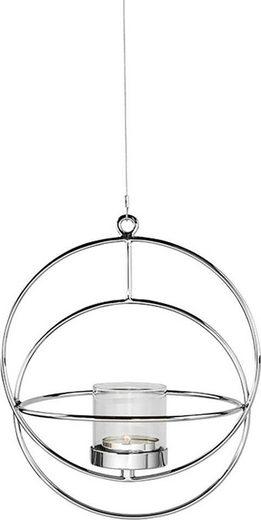 Fink Kerzenhalter »LUA, silberfarben« (1 Stück), Hängeleuchter, Kerzenleuchter, zum Aufhängen, rund, handgefertigt, aus Metall, verschiedene Größen erhältlich, Wohnzimmer