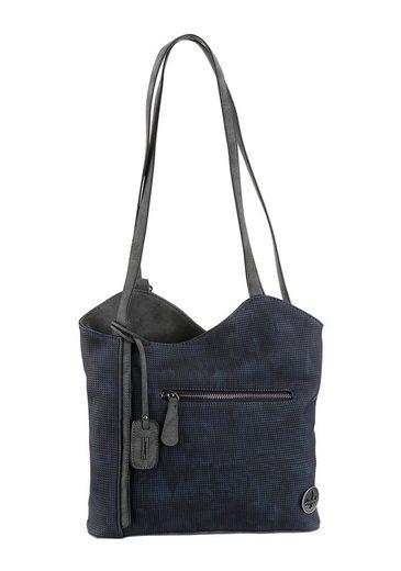 Rieker Cityrucksack, 2 in 1 Rucksack und Schultertasche mit praktischer Inneneinteilung