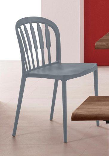 INOSIGN 2er und 4er Stuhl Set »Linz« in vier trendigen Farbvarianten, aus Kunststoff, Sitzhöhe 45 cm