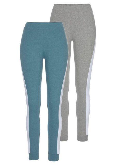 Hosen - Arizona Leggings (2er Pack) mit breitem Streifen › blau  - Onlineshop OTTO
