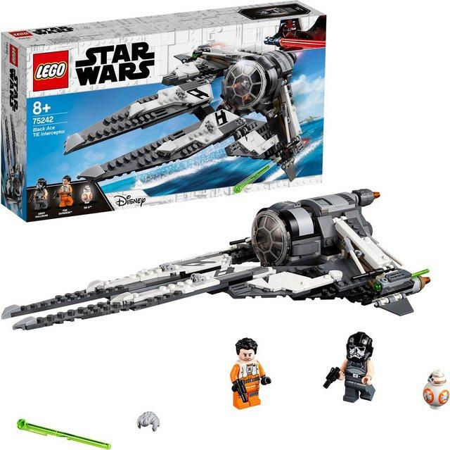 Image of LEGO Star Wars 75242 TIE Interceptor Allianz Pilot