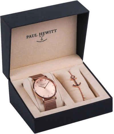 PAUL HEWITT Quarzuhr »Perfect Match, PH-PM-1«, (Set, 2-tlg., mit Armband)