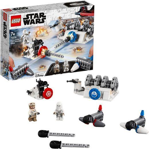 LEGO® Konstruktionsspielsteine »Action Battle Hoth™ Generator-Attacke (75239) LEGO® Star Wars™«, Kunststoff, (235 St)