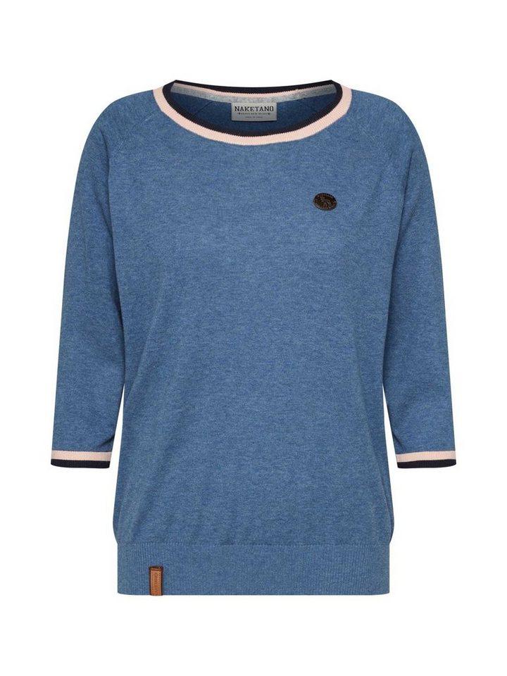 naketano 3/4 Arm-Pullover »Gespreizt wie Gereizt« | Bekleidung > Pullover > 3/4 Arm-Pullover | Blau | naketano