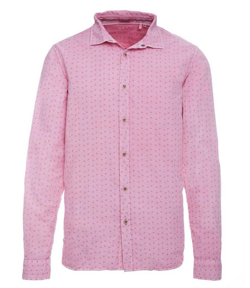 store authentic factory price CAMP DAVID Langarmhemd mit Stickerei online kaufen   OTTO