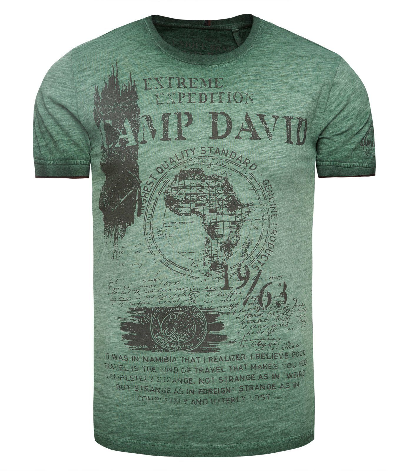 CAMP DAVID T-Shirt mit Inside-Oil-Dyed-Färbung