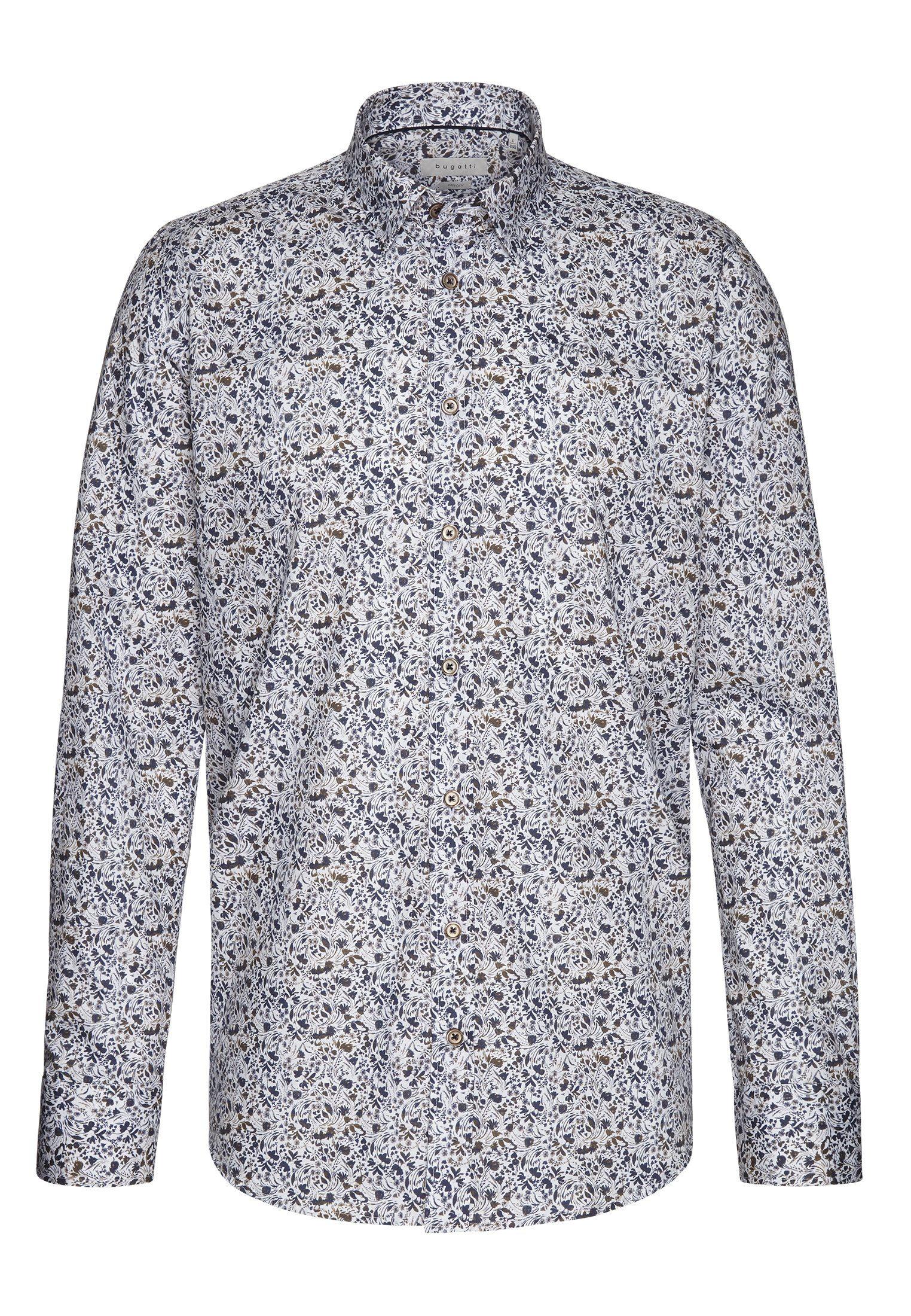 bugatti Businesshemd mit einem floralen Muster