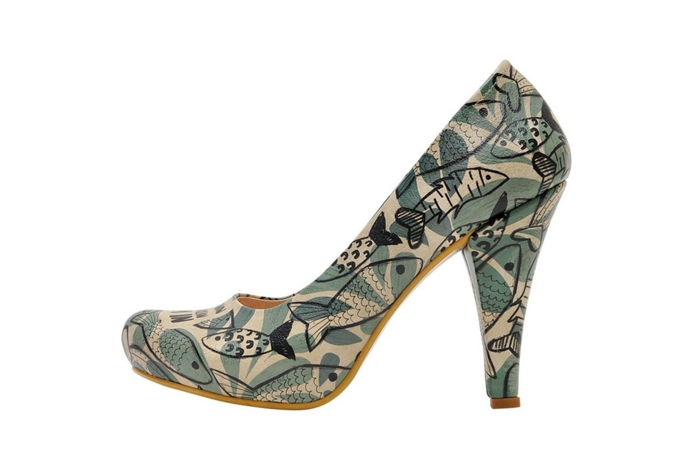 Damen DOGO »Ocean« High-Heel-Pumps Vegan bunt,  mehrfarbig | 08680544179657