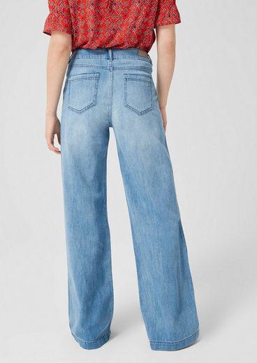s.Oliver Smart Wide: Marlene-Jeans mit Leinen