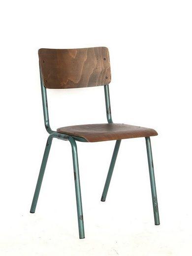 KAWOLA Klassenzimmerstuhl Vintage Metallgestell in versch. Farben »DISCERE«