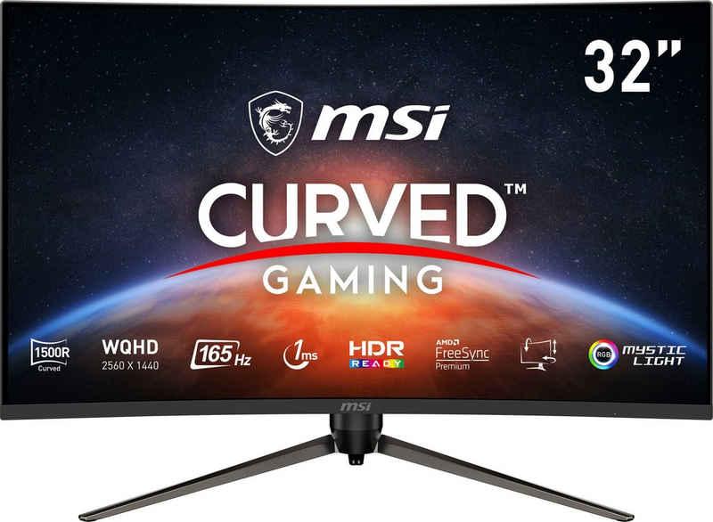 """MSI Optix AG321CQR Curved-Gaming-Monitor (80 cm/31,5 """", 2560 x 1440 Pixel, WQHD, 1 ms Reaktionszeit, 165 Hz, VA LED, höhenverstellbar, 3 Jahre Herstellergarantie)"""