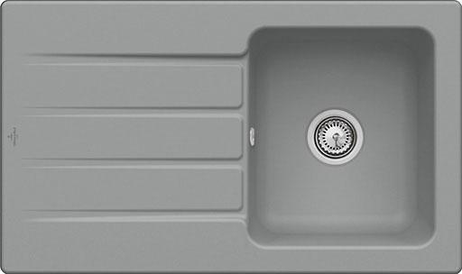Villeroy & Boch Einbauspüle mit Abtropffläche »Architectura 50«, 86 cm breit | Küche und Esszimmer > Spülen > Einbauspülen | Blau | Villeroy & Boch
