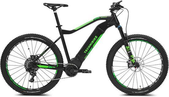 TECHNIBIKE E-Bike »VOTARO Hardtail«, 11 Gang SRAM RD GX 1X11SPD Schaltwerk, Kettenschaltung, Mittelmotor 250 W, (mit Beleuchtungsset)
