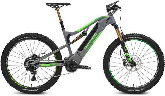 TECHNIBIKE E-Bike »VOTARO Full Suspension«, 11 Gang SRAM RD GX 1X11SPD Schaltwerk, Kettenschaltung, Mittelmotor 250 W, (mit Beleuchtungsset)