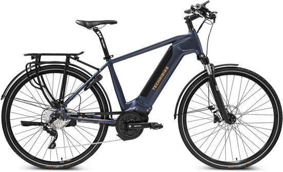 TECHNIBIKE E-Bike »Trekking Edition Herren«, 10 Gang Shimano RD-M786-D Schaltwerk, Kettenschaltung, Mittelmotor 250 W, (mit Schloss)