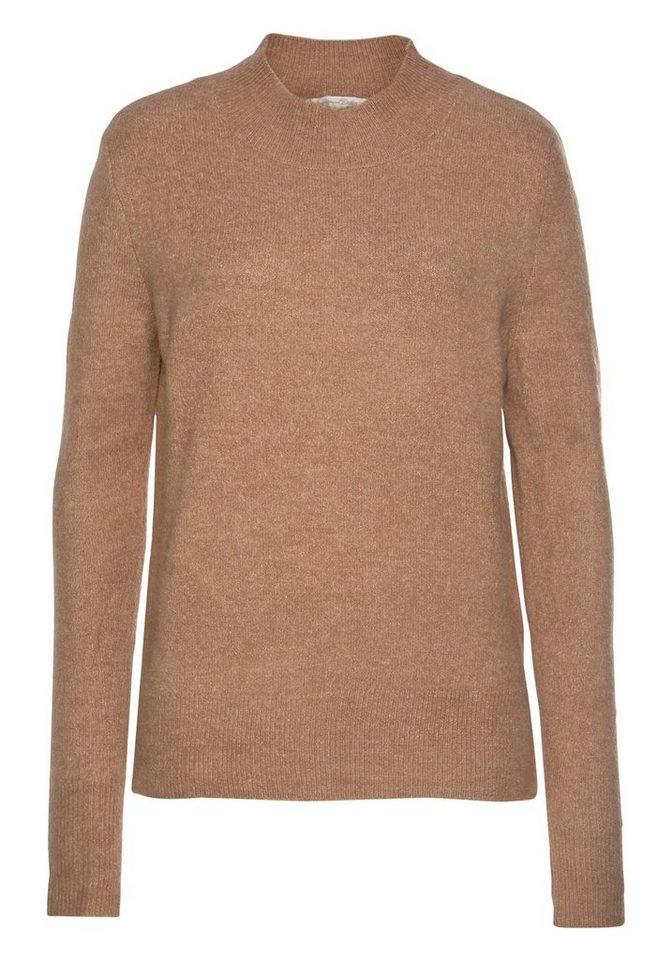TOM TAILOR Denim Stehkragenpullover in leichter Flauschoptik | Bekleidung > Pullover > Stehkragenpullover | Jeans - Denim | TOM TAILOR Denim