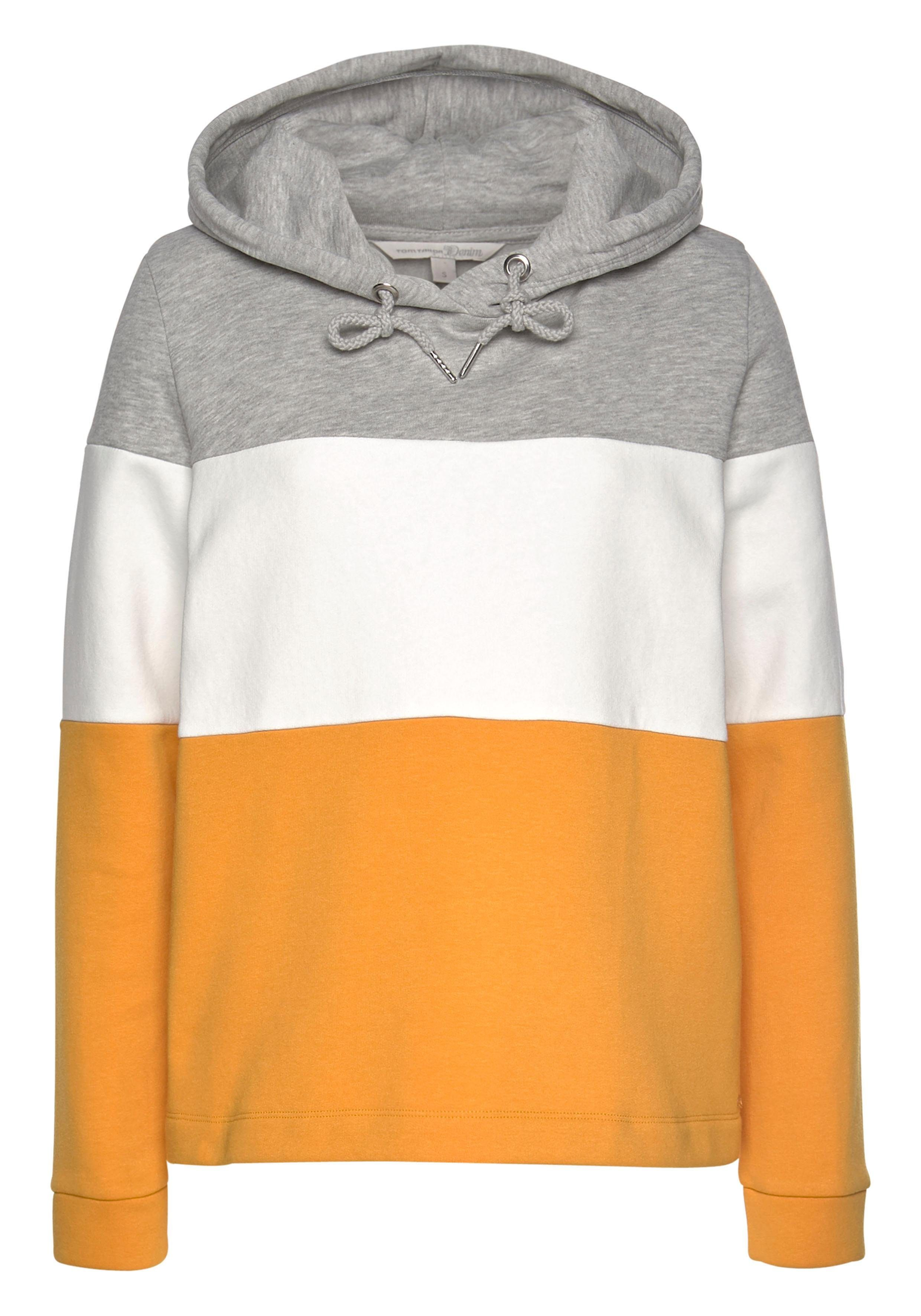 TOM TAILOR Denim Kapuzensweatshirt im Colorblocking Dessin online kaufen | OTTO
